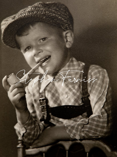 Young Pipe Smoker 1947