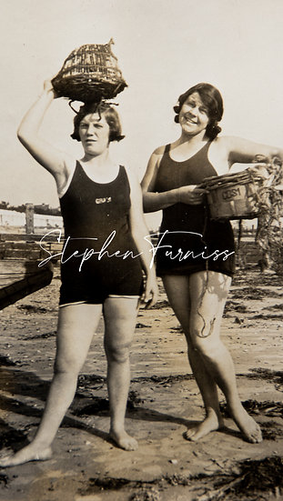 Collecting on the Beach! 1920's