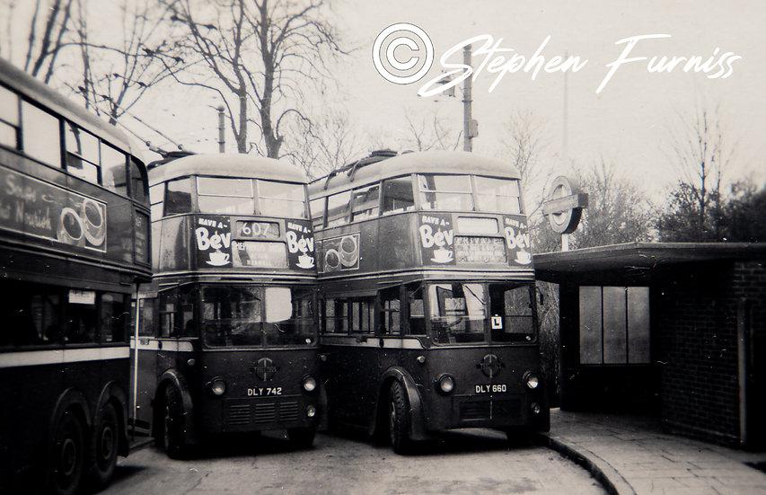 London Trolley Buses 1950's