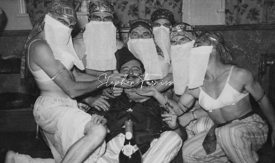 Man with 6 men in drag c.1940