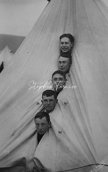 Lads in a Tent! Dated 1909