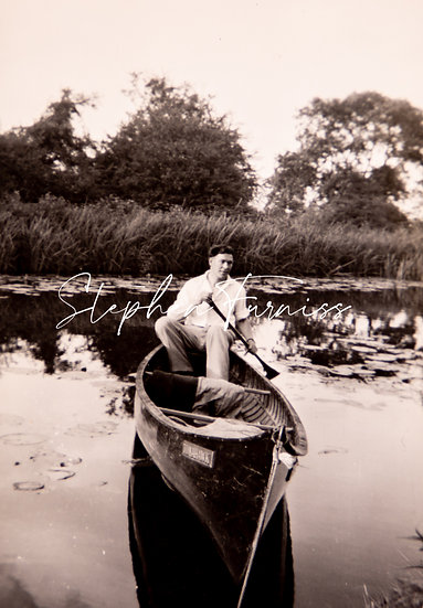 Lad Boating 1960's
