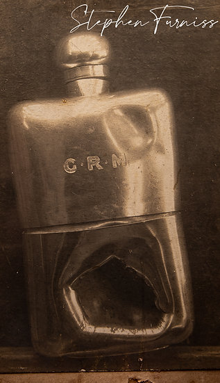 Silver Hip Flask Stopped a Bullet!  WWI