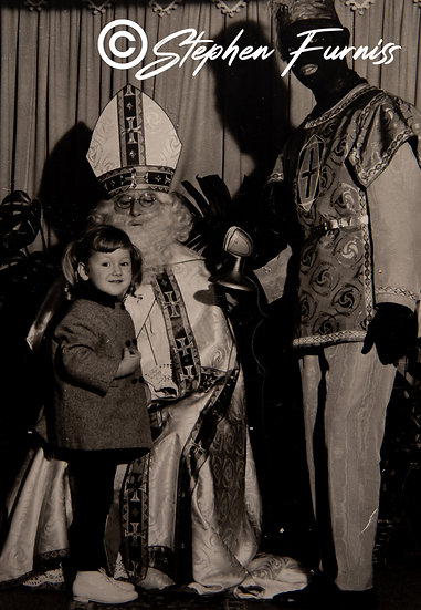 Santa Claus and black piet Dutch 3rd December 1967