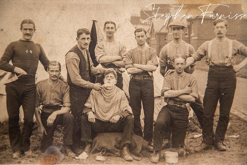 Army Camp Barber 1910