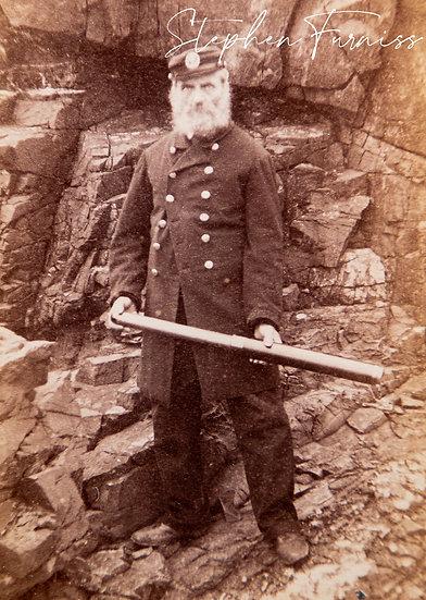 Sea Captain and Telescope 1870's
