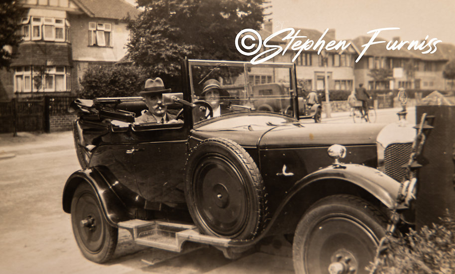 AC Car up the Pavement 1930's