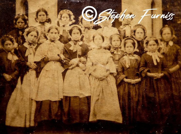 The Village School Girls Suffolk c.1860