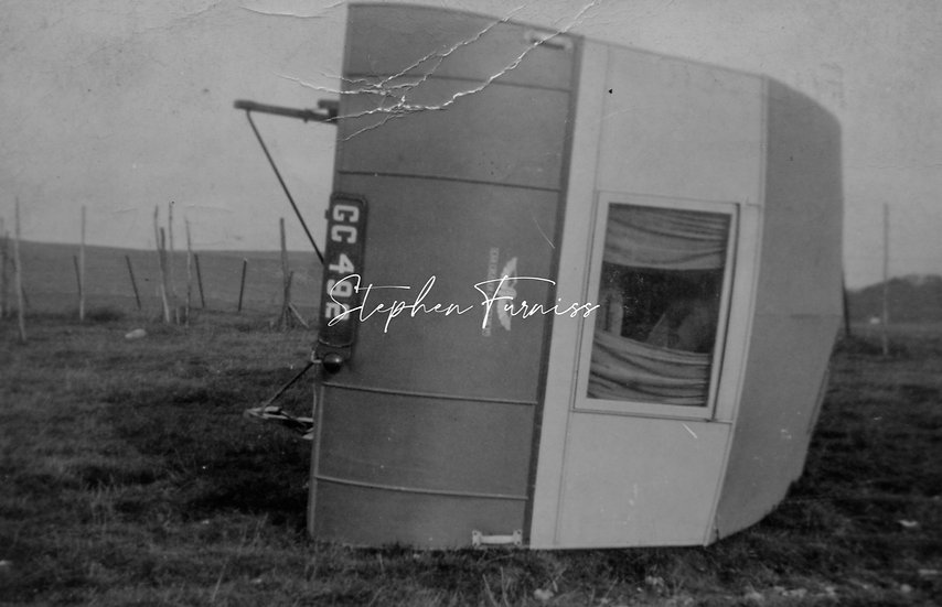 Blown over Caravan! 1960's