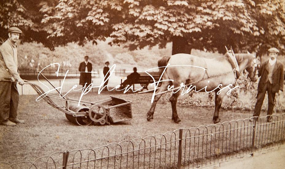 Public Park Lawnmower 1900