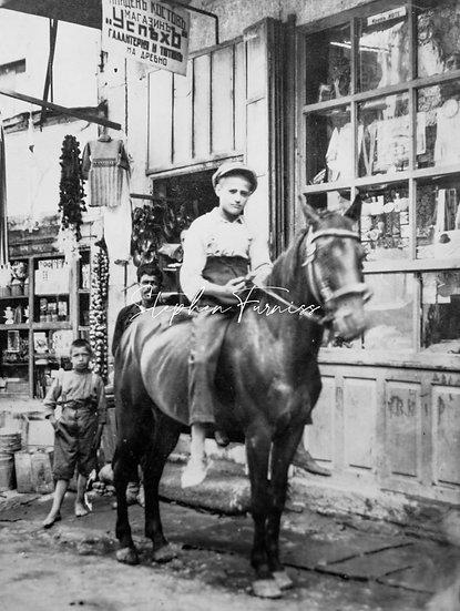 Greek Boy on a Horse 1920's