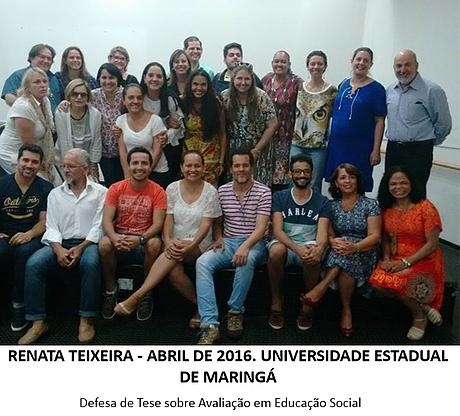 Defesa de Tese - Renata Teixeira - abril de 2016