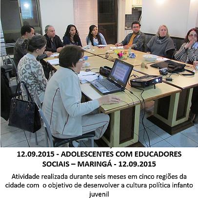 Adolescentes com educadores sociais 01 - setembro de 2015