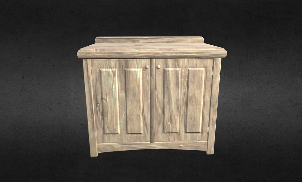 Wooden Cabinet (Yellow Rough Wood)