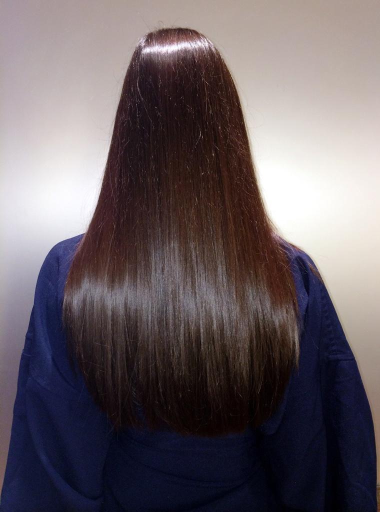 Shiny brown hair