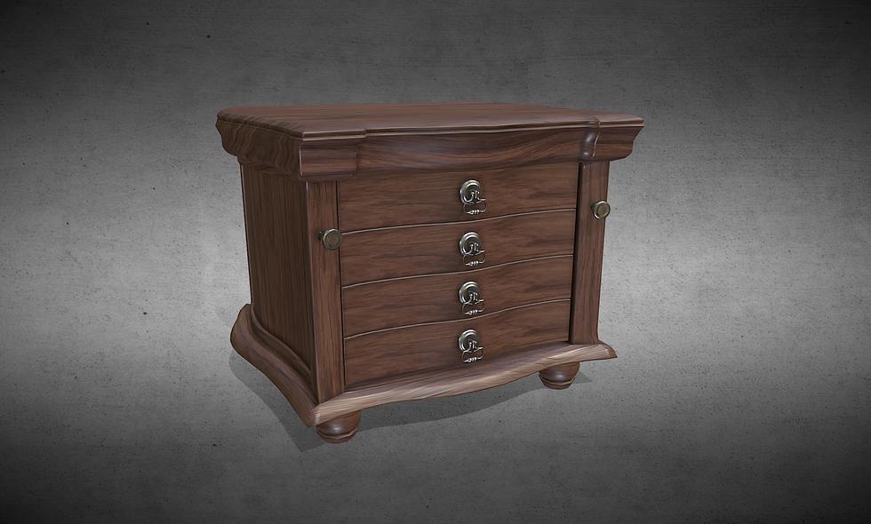 Victorian Dresser Drawer (Walnut Wood)