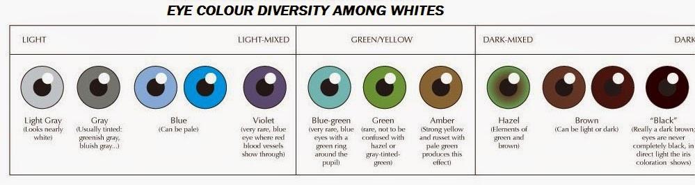 Eye color diversity among europeans