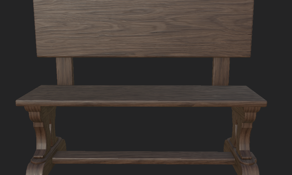 Bench (Walnut Wood)