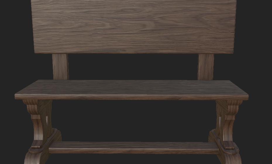 Bench (Walnut Wood)