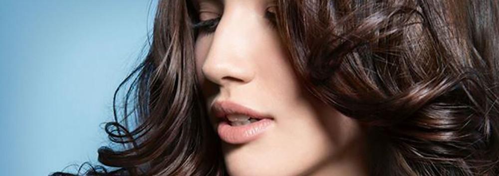 Brunette beauty and curls