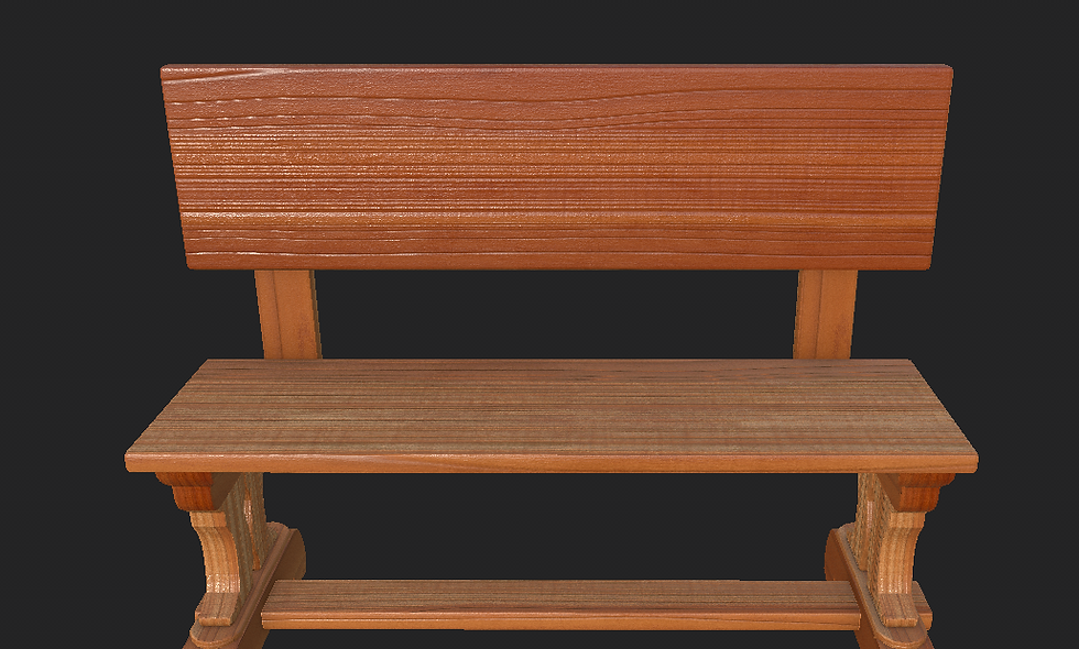 Bench (American Cherry Wood)