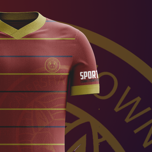 The Sports Connections Foundation logo can be seen here on the sleeve of the home kit