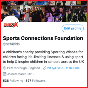 Our Twitter page @SCF4Kids