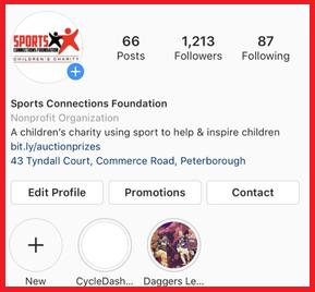 Our Instagram page @SCF4Kids