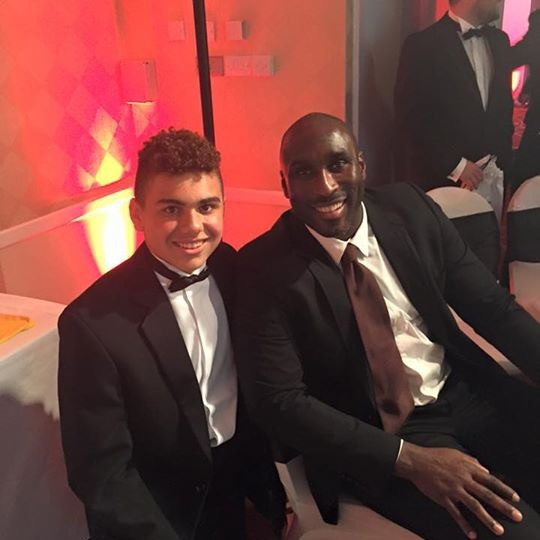 Sam with Sol Campbell one of our Sports Connections Foundation Ambassadors