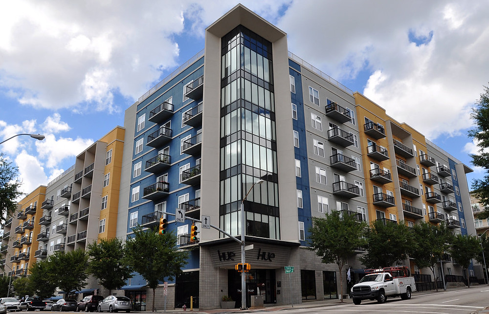 The Hue apartment building in Raleigh