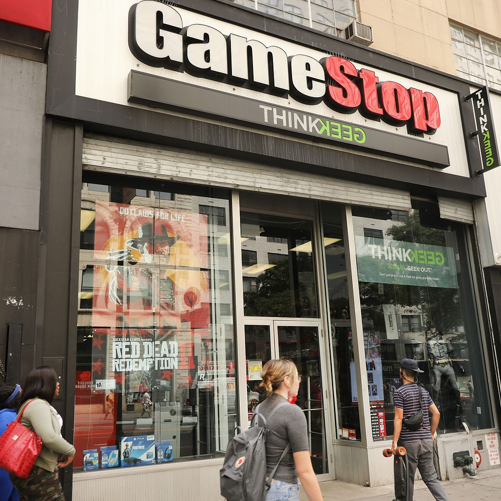 The front of a GameStop store