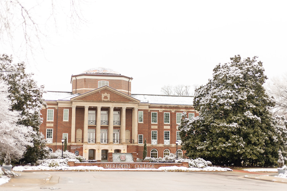 Johnson Hall in the snow
