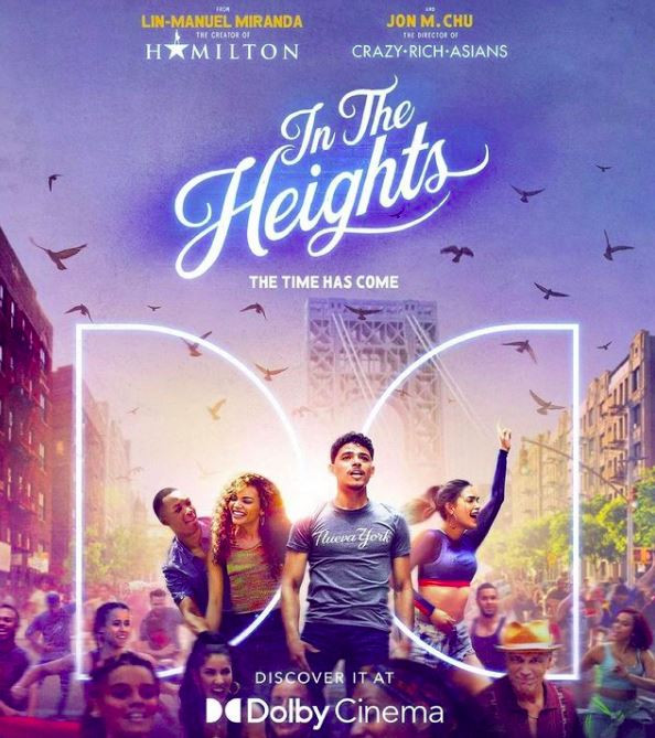 The poster for In the Heights, with the title and the characters on the front