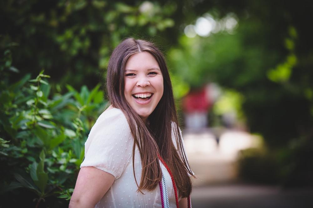 Naomi Hill smiling at Meredith