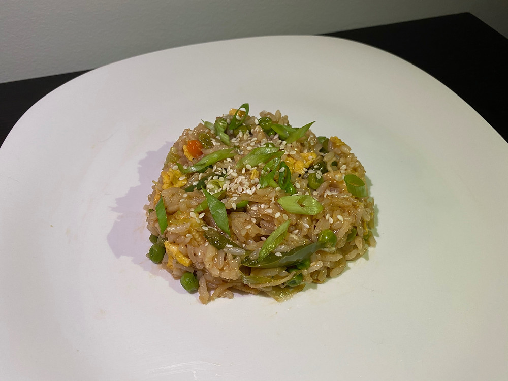 A photo of the fried rice version of stir fry