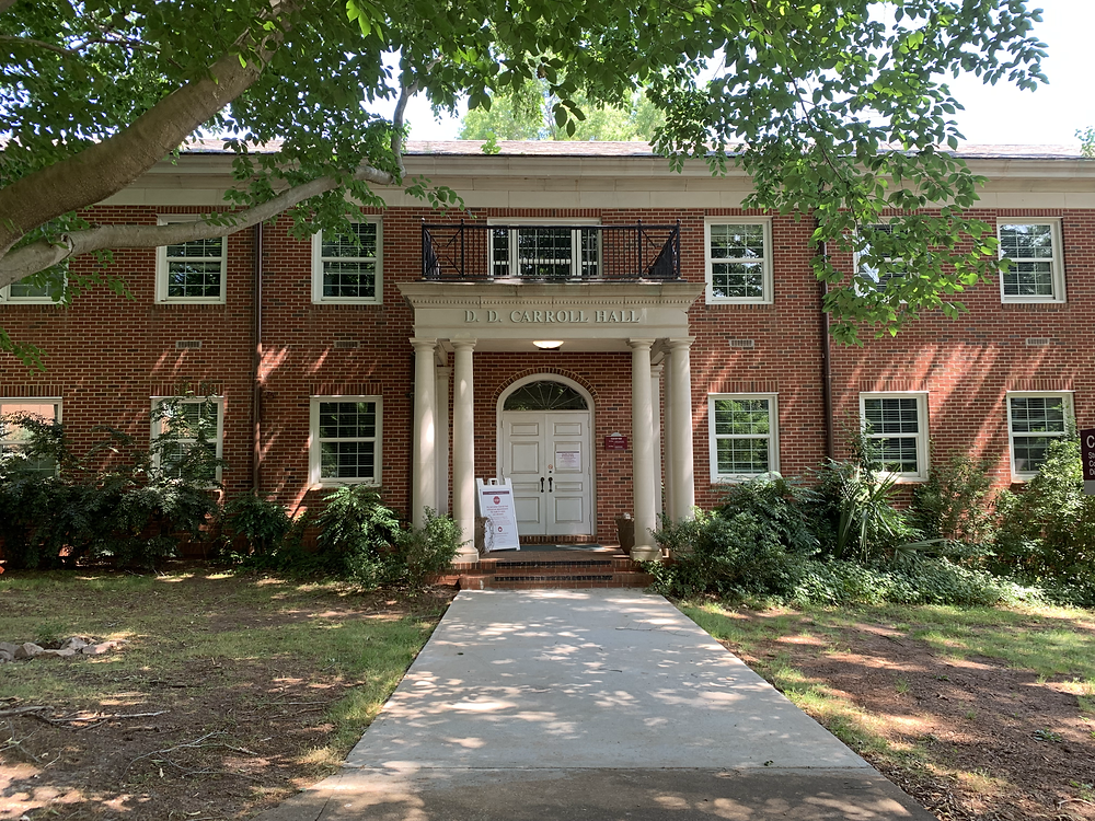 The front of Carroll Hall