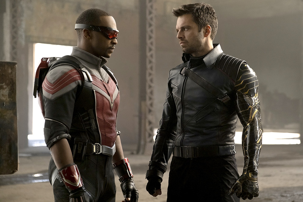 Sam Wilson and Bucky Barnes standing next to each other