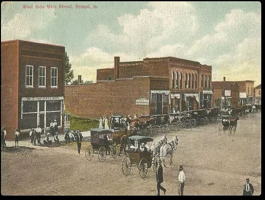 Colorized photo of the West Side of Mainstreet