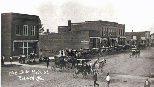 West Side of Main street between 1907 and 1912