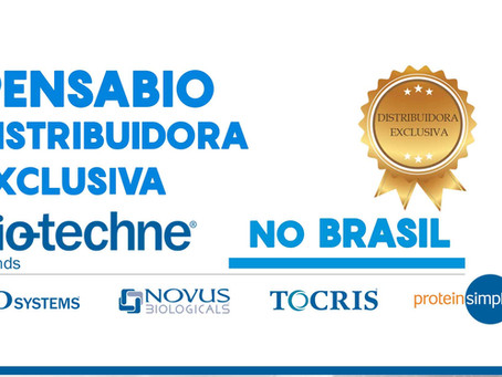 Pensabio distribuidora exclusiva Bio-techne no Brasil!