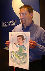 Phil Herman and the artists at Party Art Productions are masters at delighting even the toughest corporate client with fanciful, whimsical flattering full color caricatures.