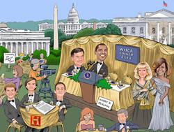 Caricature of Barak Obama