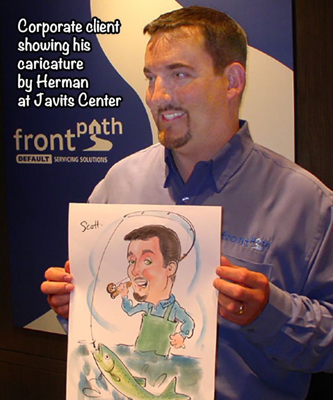 Caricature done at corporate event