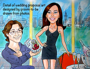 Wedding proposal artwork from photo.