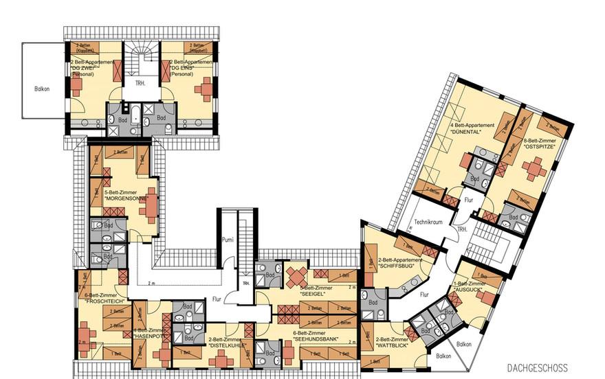Grundriss Dachgeschoss Inselhaus Langeoog