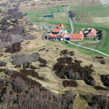 Inselhaus aus der Vogelperspektive