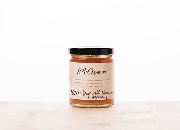 R&O Pantry, Pear with Vanilla and Rosemary Jam