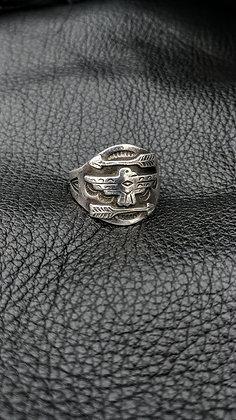 Vintage Thunderbird Cigar Band Style Ring
