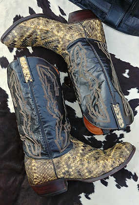 Rattlesnake Cowboy Boots Size 12D