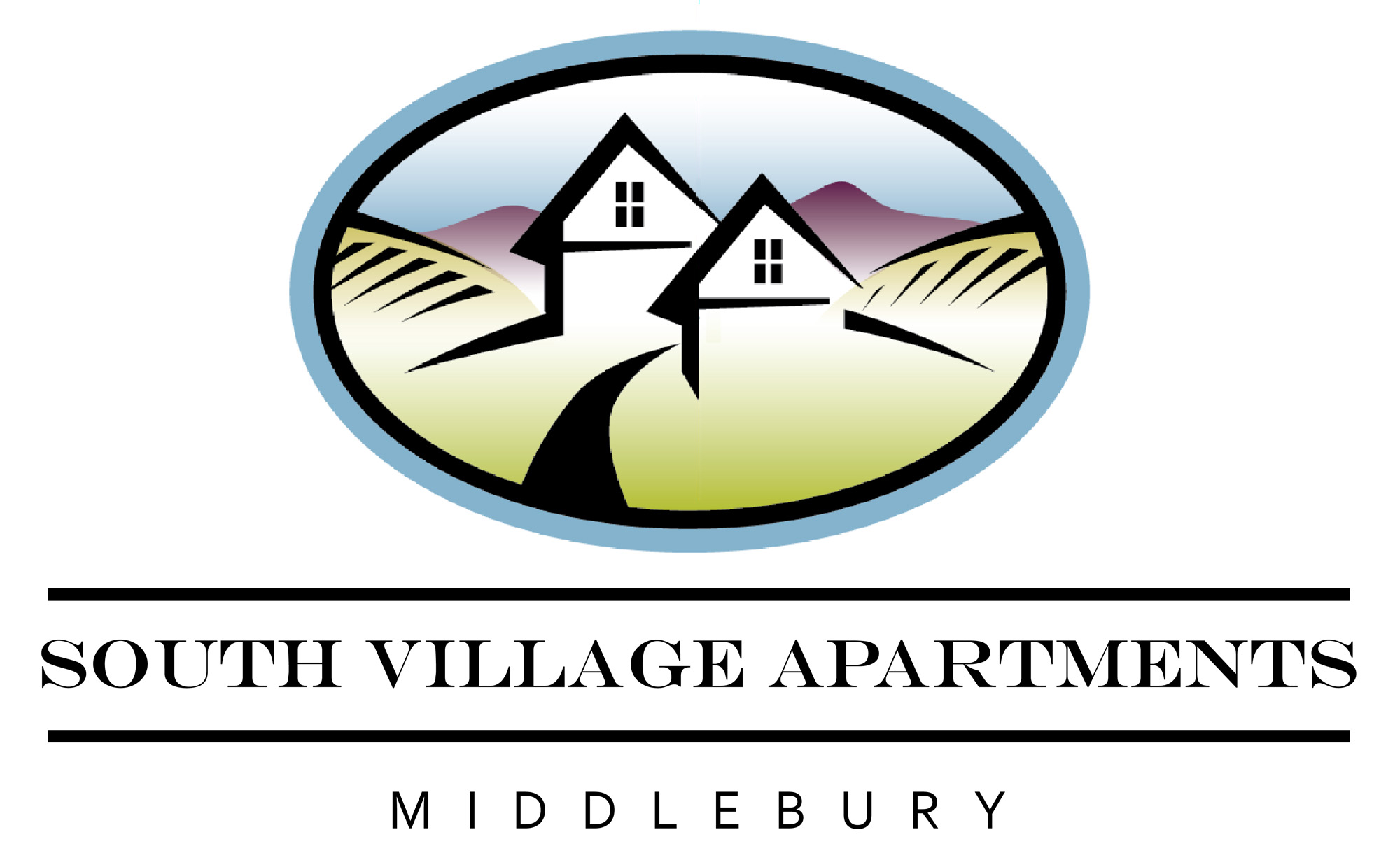 South Village logo no blue
